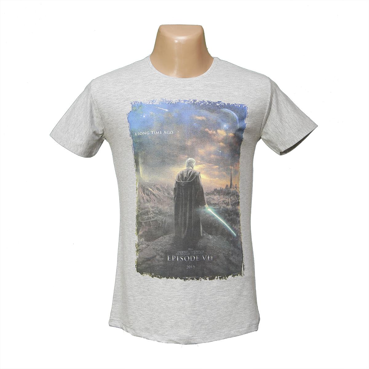 """Мужская стрейчевая футболка Lycra """"Джедай""""  2647"""