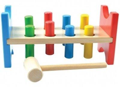 Деревянная игрушка Стучалка «Гвозди-перевертыши» МДИ (Д002)