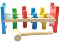 Деревянная игрушка Стучалка «Гвозди-перевертыши» МДИ (Д002), фото 1