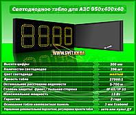 Табло для АЗС 950x400x40 на желтых матовых светодиодах