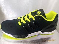 Кроссовки мужские Adidas черные с салатовым