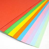 """Бумага цветная набор """"интенсив""""  5 цветов*20 листов А4 80 гр/м, 100 листов"""