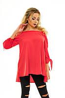 Свободная женская весенняя блуза
