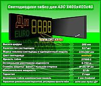 Табло для АЗС 1400x400x40 желтые матовые светодиоды