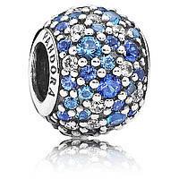 Шарм Pandora Разноцветное Паве, пандора серебро