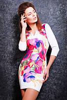 Женское платье - принт акварель