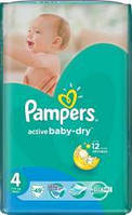 Подгузники PAMPERS Active Baby Dry 4 Maxi (7-14кг) 49шт.
