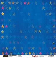 Папір для скрапбукінгу 30,5*30,5 см 180 гр/м двуст. Басик До зірок