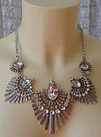 Ожерелье женское колье модное металл ювелирная бижутерия 6457