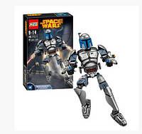 Конструктор Ksz 712-1 Звездные Войны аналог LEGO Star Wars Джанго Фетт 85 деталей