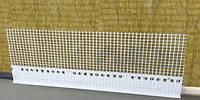 Накладка с капельником и армирующей сеткой на цокольный профиль длина 2.5 м.п