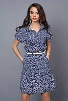 Оригинальное летнее платье-рубашка из креп шифона