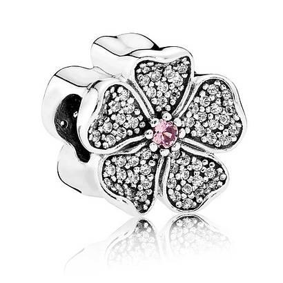 Подвеска-шарм из серебра «Цветение яблони» в стиле Pandora