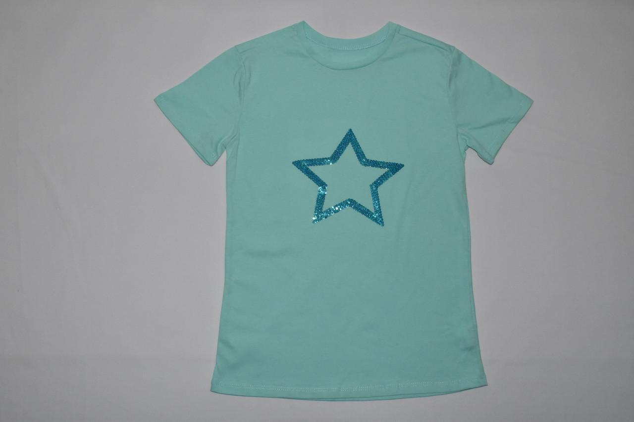 Детская футболка с пайетками