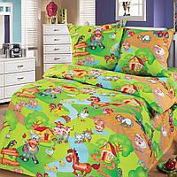 """Подростковое постельное белье Kidsdream """" Весела Ферма"""" полуторного размера."""