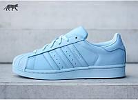 Женские кроссовки Adidas Superstar Light Blue , фото 1