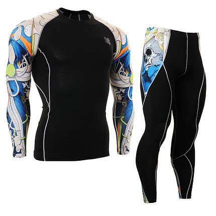 Комплект Рашгард Fixgear и компрессионные штаны CPD-B19B+P2L-19B, фото 2