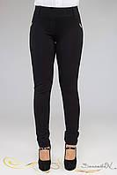 Классические трикотажные лосины брюки из плотного брючного трикотажа большого размера 48-52, фото 1