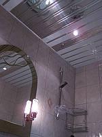 Потолок алюминиевый подвесной реечный французский дизайн