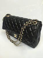 Женская сумка клатч Chanel Boy (Шанель Бой) 1536 стеганая черная