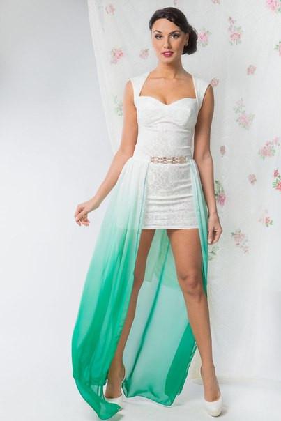 4b052febda3 Эксклюзивное вечернее платье со съемной шифоновой юбкой