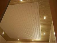Реечные подвесные потолки Бард  для ванной зеркальный хром  золото медь