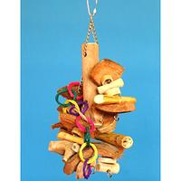 Деревянная игрушка для крупных попугаев