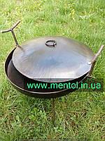 Сковорода жарочная туристическая Ø 400 мм с крышкой, фото 1