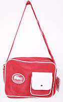Сумка спортивная Lacoste цвет красный 10х23х32 red SOR /51-6