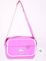 Сумка спортивная Lacoste цвет розовый 9х22х30 pink  SOR /51-6