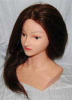 Голова манекена с плечами натуральный волос