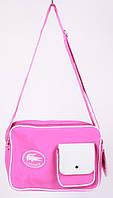 Сумка спортивная Lacoste цвет розовый 10х23х32 pink SOR /51-6