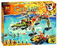 Конструктор Bela серия Chimo 10358 Спасение короля Кроминуса (аналог Lego Legends of Chima 70227)