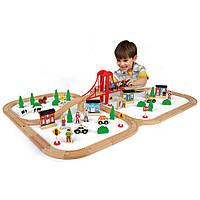 Железная дорога из дерева Imaginarium 80 Piece Mega Train Set из США