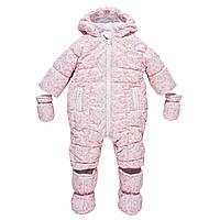 Зимний комбинезон Chicco розовый Снежинки