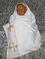 """Крещение. Крыжма """"Малыш вайт"""". Полотенце для крещение ребенка"""