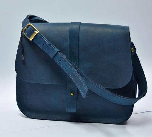 Фантастическая женская сумка из натуральной кожи GBAGS B.0001-CH синий