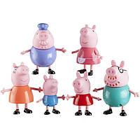 Набор семья Свинки Пеппы (6 фигурок) Peppa Pig and Family Figure Grandpa Granny Exclusive Set