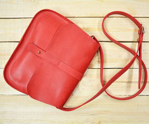 Привлекательная женская сумка из натуральной кожи GBAGS B.0001-ALI красный