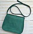 Неотразимая женская сумка из натуральной кожи GBAGS B.0001-ALI изумрудный, фото 2