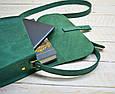 Неотразимая женская сумка из натуральной кожи GBAGS B.0001-ALI изумрудный, фото 3
