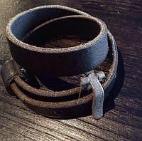 Кожаный браслет намотка