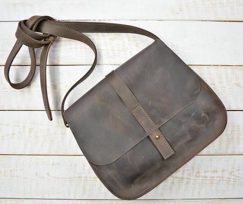 Практичная женская сумка из натуральной кожи GBAGS B.0001-CH коричневый