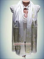 Шелковый шарф Eda exclusive, айвори, молочный (100% rayon)