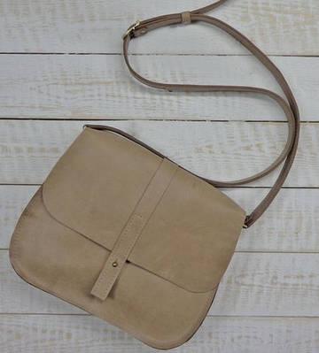 Светлая женская сумка из натуральной кожи GBAGS B.0001-ALI бежевый