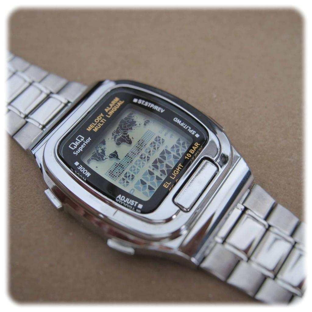 e7086d7b Часы Q@Q -10Bar деловой стиль, записная книжка, карта, стальной браслет,  MMW1P311Y