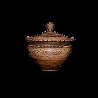Горшок глиняный (макитра) с крышкой Шляхтянский AA02 Покутская керамика