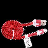 Кабель USB - micro USB, тканевый, 1 метр, фото 1