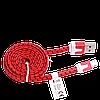 Кабель Lightning  USB -   iPhone 5 5s 5c / 6 6S 4.7 / 6 6S Plus, тканевый, 1 метр