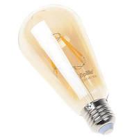 Винтажные лампы светодиодные Brille E27 6W ST64 COG мат. хром (32-329) теплый свет